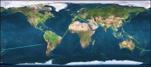Trajet Tour du Monde 2013